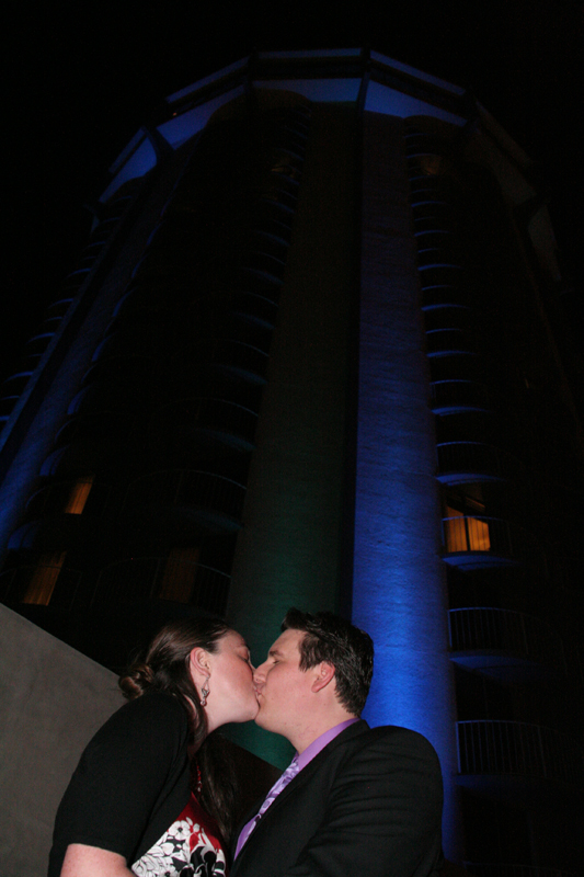 Jenn and Jeff infront of Hotel Angeleno