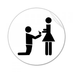 Wedding Proposal Sticker